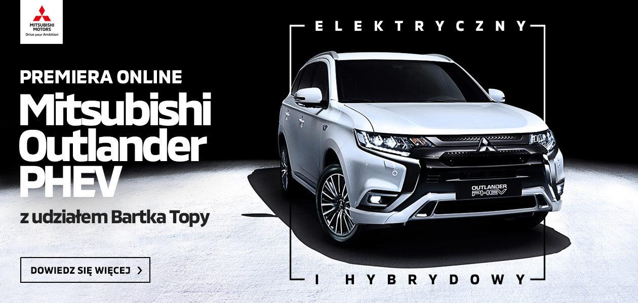 Sukces wyjątkowej premiery Mitsubishi Outlandera PHEV online z Bartłomiejem Topą