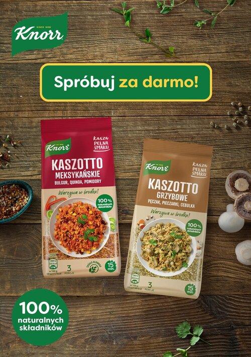 Smakuj i wygrywaj Kaszę pełną smaku Knorr – akcja darmowego próbowania i konkurs produktowy