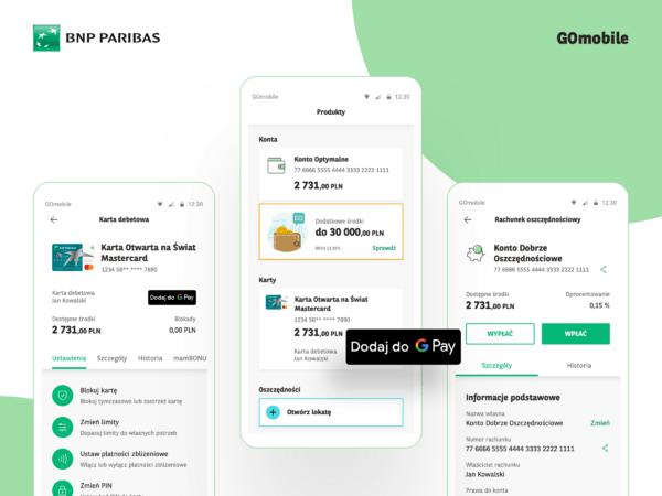 Nowy interfejs i łatwiejsze korzystanie z Google Pay – Bank BNP Paribas aktualizuje aplikację