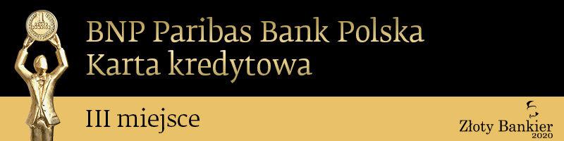 Karty kredytowe Banku BNP Paribas nagrodzone w rankingu Złoty Bankier