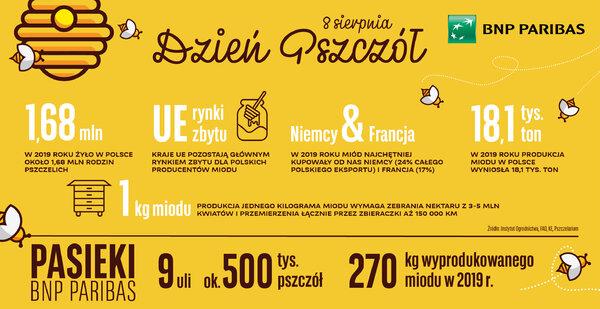 """Produkcja miodu w Polsce niższa niż rok wcześniej. W """"Pasiece pod gwiazdami"""" Banku BNP Paribas trend jest wzrostowy"""