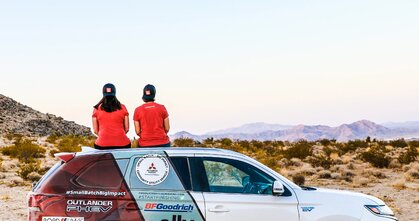 Pierwszy zelektryfikowany SUV na podium Rebelle Rally