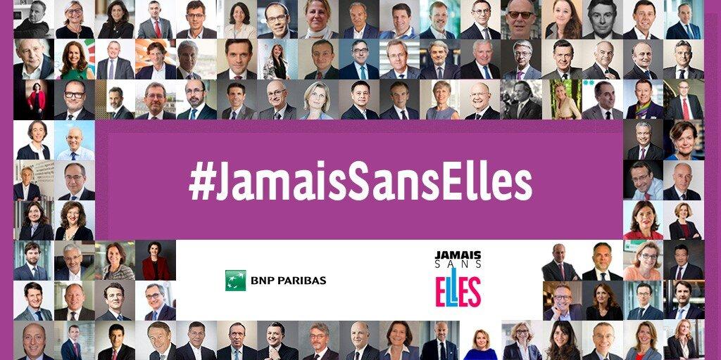#JamaisSansElles: 100 kluczowych menadżerów Grupy BNP Paribas dołączyło do inicjatywy na rzecz kobiet