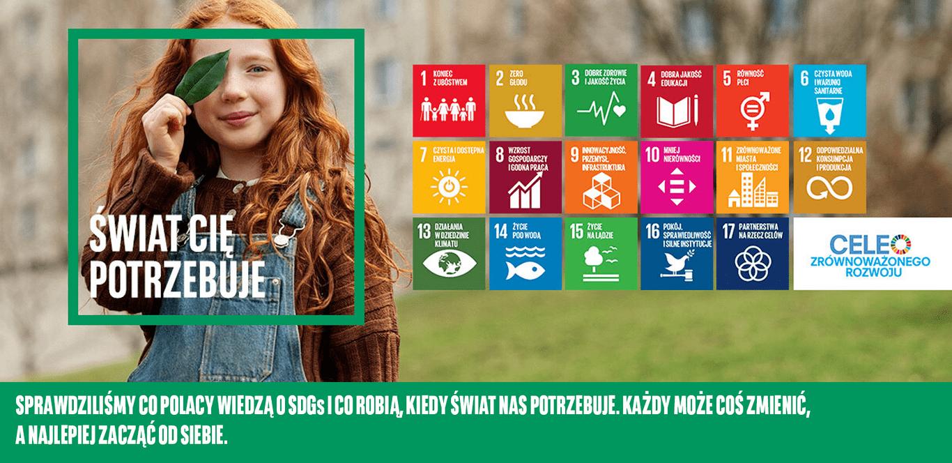 Sprawdziliśmy co Polacy wiedzą o SDGs i co robią, kiedy świat nas potrzebuje.  Każdy może coś zmienić, a najlepiej zacząć od siebie.