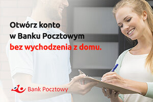 Bank Pocztowy udostępnia możliwość założenia konta bez wychodzenia z domu, za pośrednictwem kuriera Poczty Polskiej.  Usługa, która została zawieszona w czasie pandemii i wprowadzanych obostrzeń epidemiologicznych, teraz wraca w nowej odsłonie