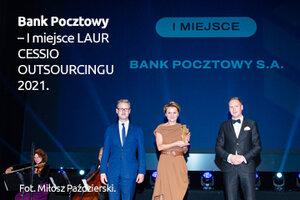 Bank Pocztowy uhonorowany nagrodą CESSIO 2021. Wyróżnienie za sprzedaż portfeli wierzytelności